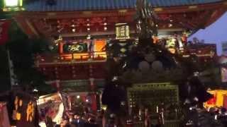 平成25年 神田祭り 宮入り 市場千貫本社神輿 迫力有るです 。