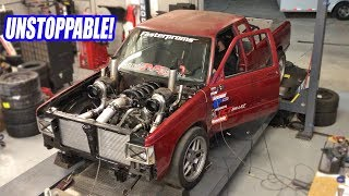 Fixing Our Twin Turbo AWD S10s Frame In One Day & Making Even MORE Power! (Testing The 5.3 Limits!)