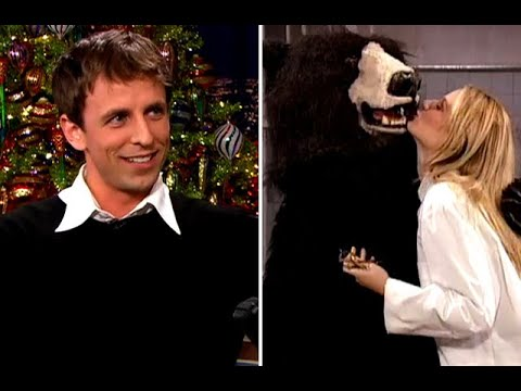 """Seth Meyers Wore A Familiar Bear Costume On """"SNL"""" – """"Late Night With Conan O'Brien"""""""