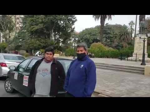 Video: Manifestación de trabajadores al volante en la Legislatura de Salta