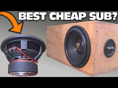 CHEAP $100 Subwoofer TEST w/ 12″ Rockville K9 Car Audio Sub | Aero-Ported Box SPL Bass Testing