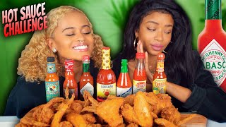 HOT SAUCE AND FRIED CHICKEN WINGS CHALLENGE MUKBANG