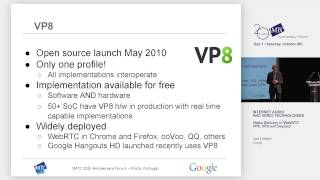 Video delivery in WebRTC - VP8, VP9 and beyond