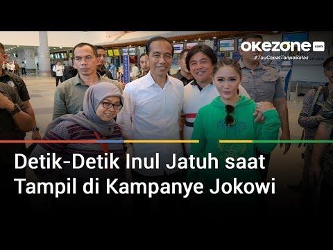 Detik-Detik Inul Jatuh saat Tampil di Kampanye Jokowi