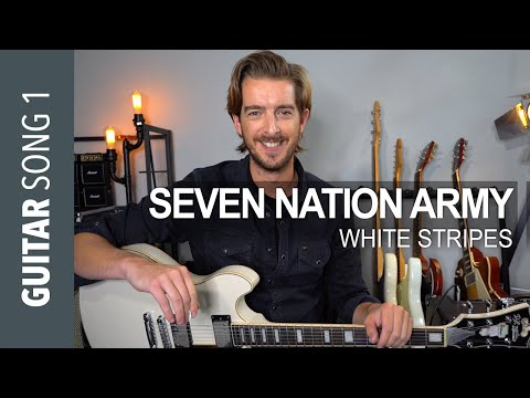 Electric Guitar Song 1 - 'Seven Nation Army' White Stripes // Guitar Lesson Tutorial