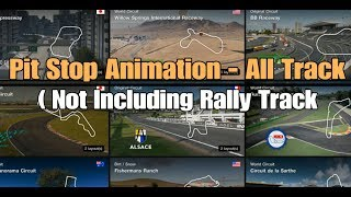 Gran Turismo Sport | Pit Stop - Animation All Track ( Not Including Rally Track )