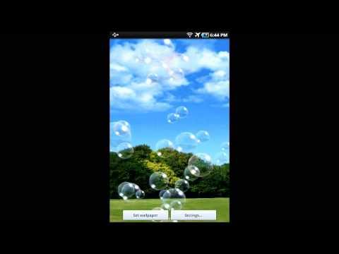 Video of Soap bubble LiveWallpaper Free