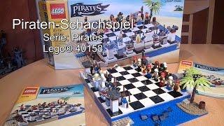 Test LEGO Piraten-Schachspiel (Set 40158 Pirates Review Chess Set deutsch)