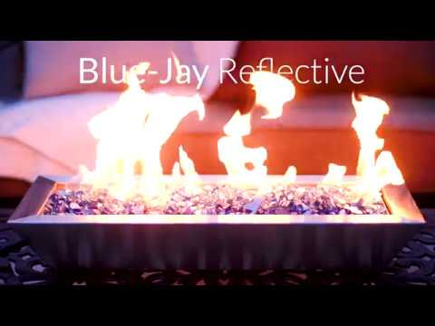 Blue-Jay Reflective Fire Glass | Lakeview Outdoor Designs