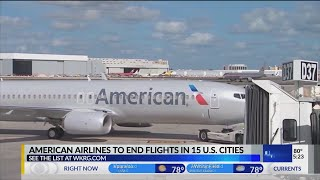 VIDEO: Planning to fly? American Airlines will drop flights to these 15 cities in October