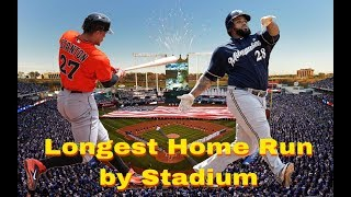 Longest Home Run In Every MLB Stadium