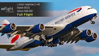 British Airways Airbus A380 Full Flight: London To Boston