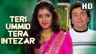 Teri Ummid Tera Intezar Karte Hai  (HD) - Deewana Song - Rishi Kapoor - Divya Bharti - Filmigaane