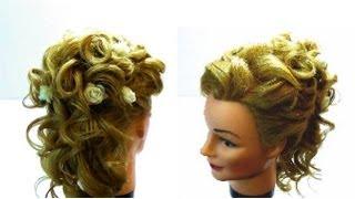 Свадебная прическа на длинные волосы.Wedding hairstyle for a long hairs