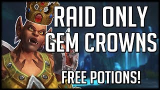 FREE BATTLE POTIONS! New Raid Exclusive Crowns   WoW Battle for Azeroth