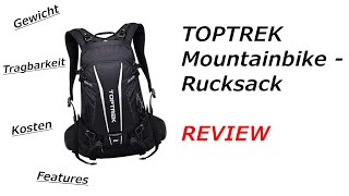 TOPTREK Mountainbike Rucksack REVIEW!!!