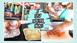 5 EASY FREEZER MEALS