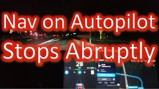 Nav on AP Stops Abruptly at End of an Exit Ramp