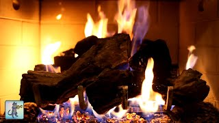 ❄️ Cozy Winter Fireplace ❄️ Burning Fireplace, Crackling Fire Sounds & Relaxing Guitar Music
