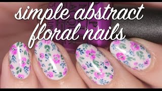 EASY HAND PAINTED FLORAL NAIL ART