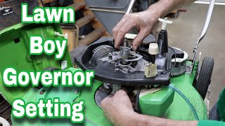 How To Set A Lawn Boy Governor
