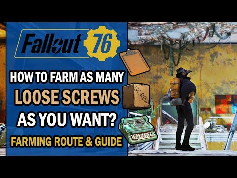 Fallout 76 - Farming Route - ULTIMATE Guide to FARM as Many LOOSE SCREWS as You Want & Some SPRINGS