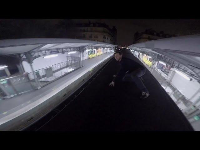 TRAIN SURFING PARIS!! (NEARLY CAUGHT)
