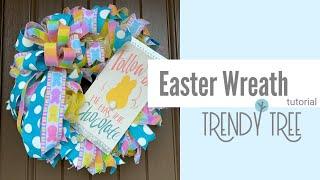 2020 Easter Wreath Tutorial Fabric Mesh