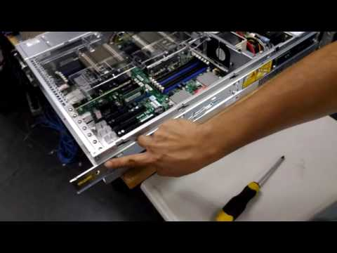 How to install server on a rack