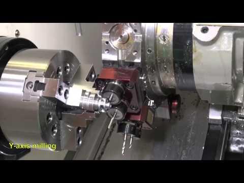 Victor Taichung Vturn A20Y mit Portalroboter für den automatischen Betrieb