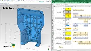 Przyspieszenie projektowania CAD dzięki arkuszowi EXCEL na przykładzie SOLID EDGE - Webinar