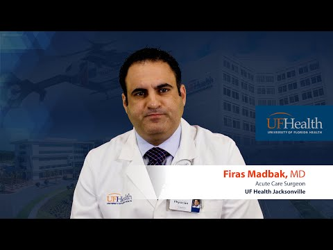 Acute care surgery at UF Health Jacksonville by Dr. Firas Madbak