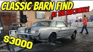 1966 MUSTANG BARN FIND SELLS FOR CHEAP AT PUBLIC AUTO AUCTION