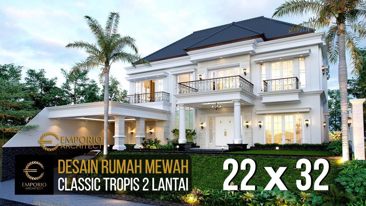 Video 3D Desain Rumah Classic 2 Lantai Mrs. Karina di Jambi