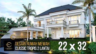 Video Desain Rumah Classic 2 Lantai Mrs. Karina di  Jambi