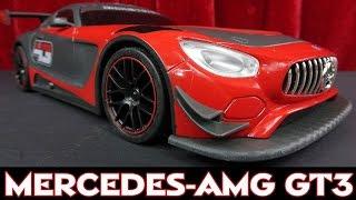 RC MERCEDES AMG GT3 FERNGESTEUERT 1:16 / MIT RAUCHFUNKTION / DRIFTFUNKTION / BURNOUT / LICHT & SOUND