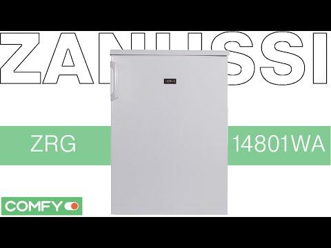 Zanussi ZRG14801WA - холодильник с полками Security Glass -Видеодемонстрацияот Comfy