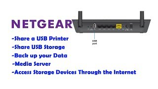 Verwendung des USB-Anschlusses am NETGEAR-Router