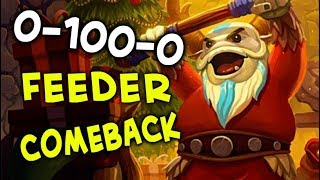 0-100-0 feeder comeback with CHEATER Techies — CHRISTMAS FEEDING