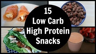 15 Low Carb High Protein Snacks | Easy Keto Snack Ideas