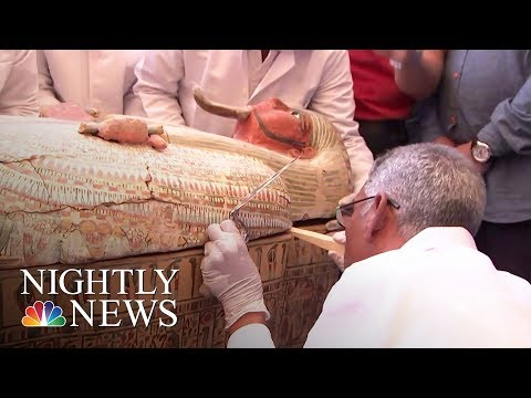 Egypt Opens Ancient Coffins To Find Perfectly Preserved Mummies   NBC Nightly News
