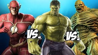 THE FLASH vs HULK vs ABOMINATION - Epic Battle
