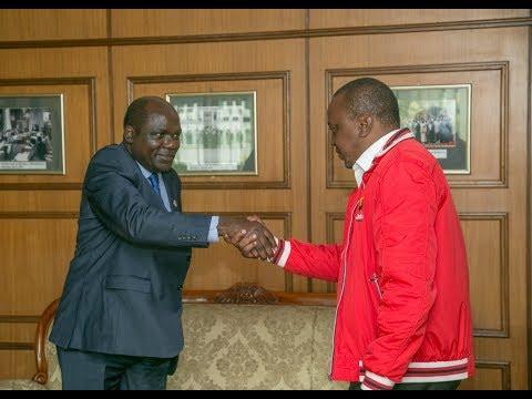 President Uhuru Kenyatta meets IEBC Chairman Wafula Chebukati