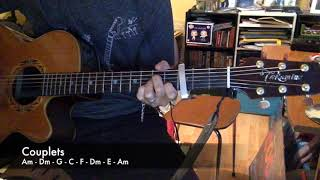 "Augustin Galiana - ""je n'aime que toi""- Cover Tutotab de Nico 2 guitares"