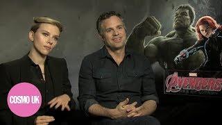 COSMOPOLITANCOUK Flip Sexist Questions On The Avengers Scarlett Johansson And Mark Ruffalo