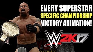 WWE 2K17: Every Superstar Specific Championship Victory Animation!