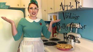Apple Pie Vintage Betty Crocker Recipe