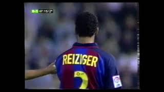 Albacete 1 - Barcelona 2. Temp. 03/04. Jor. 3. (solo segunda parte)