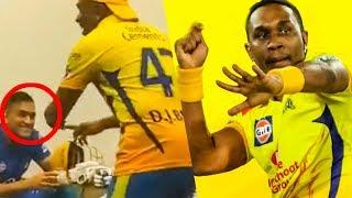 FUN: Bravo's Dance Torture to Dhoni & CSK   IPL 2018