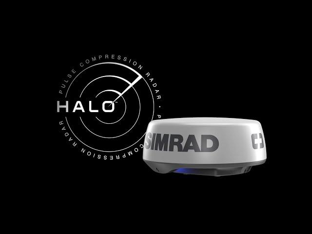 Simrad Halo 20+ Radar Dome 60 RPM with Collision Avoidance and VelocityTrack 36 NM 20-inch Pulse Compression Radar 000-14536-001